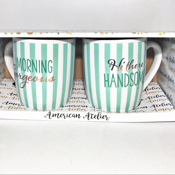 Tea Coffee Mug Cup Kitchen Morning Table Set Gadget Gift Love Dining Home Couple
